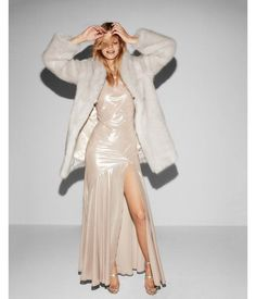 Discover, Shop and Save at eTOUNES! Express Womens Long Faux Fur Coat Neutral Womens L Neutral L Gossip Girl, Long Faux Fur Coat, Cool Outfits, Fashion Outfits, Fashion 2018, Cyberpunk Fashion, Glitz And Glam, Holiday Dresses, Beautiful Gowns