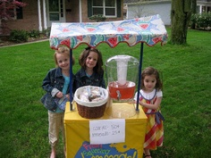 Add a cute lemonade stand to boost sales & draw in customers at your garage sale.  (i know JUST the kiddos to call!)