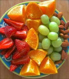 Fruit for energy, nuts for protein = great anytime snacks.