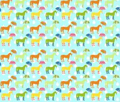 Horses in Wellies fabric by canterlanedesign on Spoonflower - custom fabric