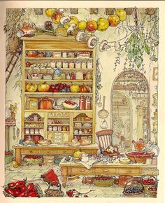 1980 Jill Barklem (British writer/illustrator, 1951) ~ Brambly Hedge series