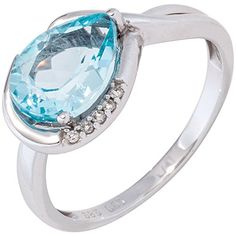 Damen-Ring 1 Blautopas 14 Karat (585) Weißgold 1 Topas 5 Diamant 0.03 ct. 52 (16.6) Dreambase http://www.amazon.de/dp/B0147ROKJI/?m=A37R2BYHN7XPNV