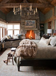 Spring may be on the horizon, but at the moment, it's still cold! Luckily foryou, these five rustic bedrooms are filled with enough plush bedding, sumptuous accents, and rich woods to warm up the rest of your winter. Take a look. 1. Cabin Hammock Okay, so it's not a bed and we're not sure it's …