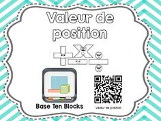 Valeur de position Fractions, Base Ten Blocks, 4th Grade Math, Cycle, Curriculum, Bullet Journal, Coding, Positivity, Concept