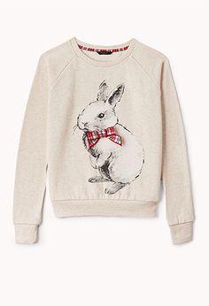 Fuzzy Rabbit Sweatshirt (Kids) | FOREVER 21 - 2040496260