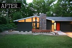 "Dan Semar and his wife Tiffany, purchased this Mid Century Modern home in 2007. It was built in 1964 by Burton Duenke who is known as the person that brought the ""Califonia Ranch"" to St. Louis. Wanting to retain the mid-century feel, they have worked many long hours to rework and landscape the front of their residence. See the results after the jump..."