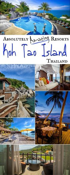 Planning a trip to Thailand? You'll definitely want to spend at least a few nights on Koh Tao Island in the Gulf of Thailand. Here you'll find white sand beaches, beautiful views, friendly locals, and luxurious resorts! Check out our favorites here! Thailand Adventure, Thailand Travel Guide, Visit Thailand, Adventure Travel, Spain Travel, Asia Travel, Mexico Travel, Bangkok Travel, Best Resorts