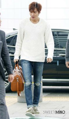 Lee Min Ho | Incheon Airport > Shanghai 140317
