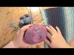 Pletení trojúhelníkového šátku od cípu 1. díl, knitting scarf - YouTube