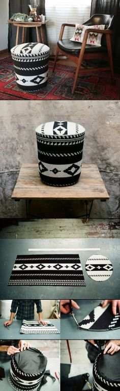 DIY UTILITY BUCKET OTTOMAN - Thehomesteadsurvival