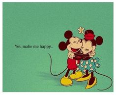 Mickey & Minnie Valentine Card.
