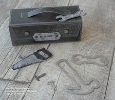 Stempelkrempel mit Papier : Werkzeugkasten für Männer