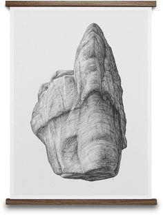 ROCK 02 BY BØRGE BREDENBEKK. Buy print at https://paper-collective.com/product/rock-02/ #papercollective #art #illustration #drawing #nature #monochrome #grey #print #poster #posterdesign #design #interior #home #decor #homedecor #wallart #artprint