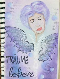 artchain, day 5 - Art Journal - Have fun with PanPastel & more - Daniela Rogall