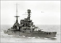 Battlecruiser HMS Repulse, 1926 (B&W) #7A