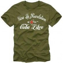 Camiseta ViVa La Revolution 1953 Cuba Libre