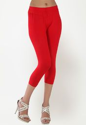 Solid Red Leggings
