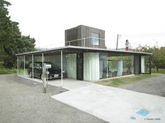 sunken house by c-and-a, japan