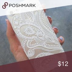 Henna White Floral Flower Plastic Case It protects your Phone back and frame from Fingerprints, Scratches, Dusts, Collisions And Abrasion  Compatible for?iPhone 5 5S  Material: Plastic Accessories Phone Cases