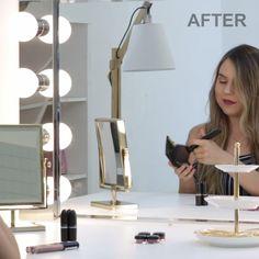 New diy makeup vanity mirror lights beauty room Ideas Diy Home Decor, Room Decor, Diy Makeup Vanity, Makeup Vanity Lighting, Glam Room, Ideias Diy, Makeup Rooms, Makeup Organization, Dream Bedroom