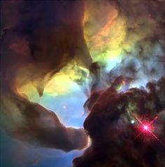 Giant  Twisters  in the Lagoon Nebula.