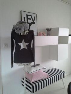 Langarmshirt, Sweatshirt, grau , mit Stern von rosa rot auf DaWanda.com