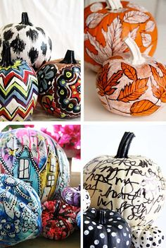 """Looking for more pumpkin decorating inspiration? You can read all about what I call """"the art of decorating a pumpkin"""" H. Pumpkin Colors, Pumpkin Art, Pumpkin Faces, Cute Pumpkin, Pumpkin Carving, Pumpkin Painting, Pumpkin Ideas, Painting On Pumpkins, Fall Pumpkins"""