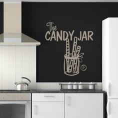 The Candy Jar Wall Sticker Kitchen Home And Living Wall Art Decal - Quotes & Slogans - Kitchen - Home & Living