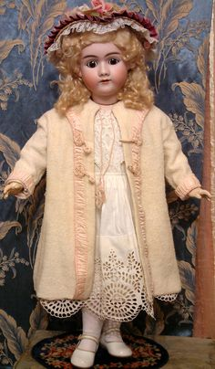 The Sweetest Lass 31 Heinrich Handwerck 99 Antique Doll c1900 in Superior Dress | eBay