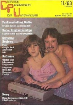 Awesome German computer magazine cover from 1983 via petetak // the original online dating?