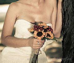 Wedding bouquet of sunflower/ Slnecnicova svadobna kytica Wedding Bouquets, Off Shoulder Blouse, Shabby, Women, Fashion, Moda, Wedding Brooch Bouquets, Women's, La Mode
