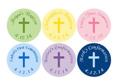 108 PRINTED Hershey Kiss Labels Baptism Christening or First Communion Personalized -  Boy or Girl Stickers Many Colors Available
