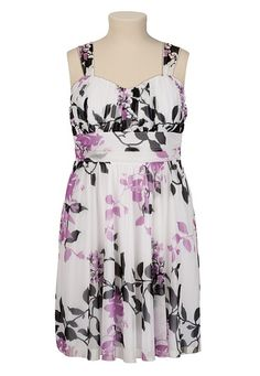 Floral Print Chiffon Dress available at #Maurices   I Have This Dress, and I Love it