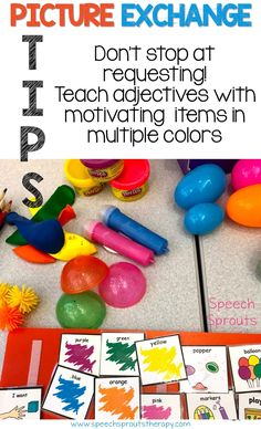 Great Tips for teaching vocabulary and language skills to students with autism or developmental delays using Picture Exchange Communication www.speechsproutstherapy.com
