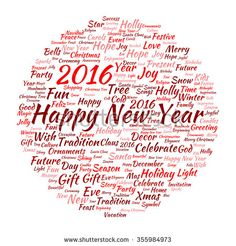 Stock Images similar to ID 356003165 - happy new year 2016 colorful...