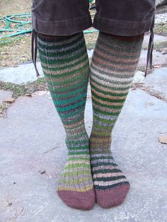 Noro Kneehighs by knitting iris, via Flickr... I have got to make myself a pair of these!
