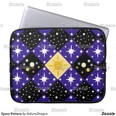 Space Pattern Laptop Computer Sleeve #space #science #galaxy #sun #stars