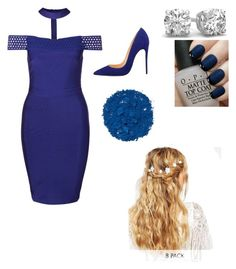 """Wedding blue"" by thecuteoutffit on Polyvore featuring ASOS, OPI and Illamasqua"