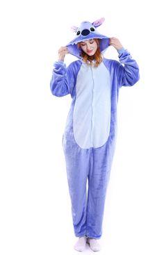 5afa80b968 kigurumi blue Stitch onesies animal pajamas for adults