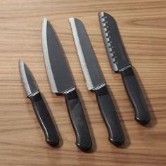 KitchenAid ® 4-Piece Ceramic Knife Set - Crate and Barrel