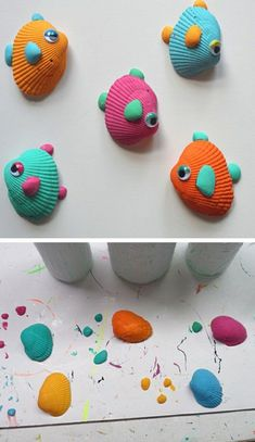 Diy crafts for kids tropical seashell fish craft click pic for summer crafts for kids to . diy crafts for kids Beach Crafts For Kids, Summer Activities For Kids, Diy For Kids, Seashell Crafts Kids, Crafts With Seashells, Seashell Ornaments, Kids Fun, Preschool Activities, Fish Crafts