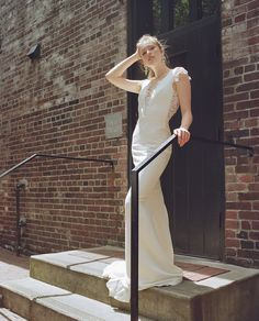 Sash & Bustle an intimate and beautiful boutique for the modern bride, located in Toronto, Ontario, Canada Crepe Wedding Dress, Open Back Wedding Dress, Fit And Flare Wedding Dress, Wedding Dresses, Windsor, Sash, Bridal Gowns, Bride, Boutique