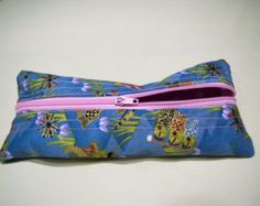 Handmade Scented Floral Pencil Case, Pencil pouch, unisex, gadget case, zippered, back to school