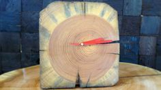 Natural hanging/standing clock by RenovatioImperii on Etsy