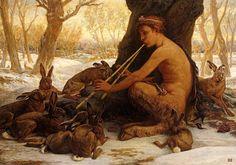 Elihu Vedder- Marsyas enchanting the Hares. 1878.
