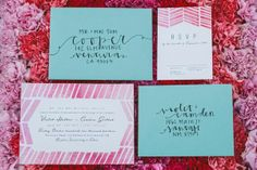 different colored envelopes, but this is fun wedding invitations