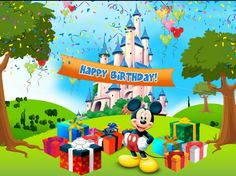Find and save ideas about Mickey Mouse Birthday Wallpaper on Birthday & Baby Shower Party Ideas, the world's catalog of ideas. See more about Mickey Mouse Birthday Wallpaper, Wallpaper. Happy Birthday Balloons, Happy Birthday Gifts, Birthday Greetings, Disneyland Birthday, Mickey Mouse Birthday, Minnie Mouse, Disney Happy Birthday Images, Birthday Freebies, Happy Birthday Wallpaper