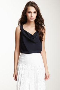 Lovely sleeveless blouse.