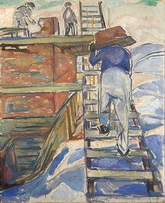 Edvard Munch – Pedreiros na Escada, 1920                                                                                                                                                                                 Mais