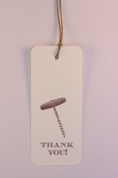 """Wooden Handle Screw Pull """"Thank You!"""""""